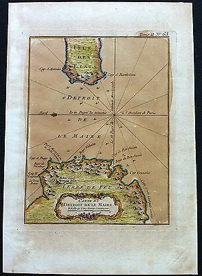 Map of Carte Du Detroit De L Maire c1764 Argentina, Bellin Atlas