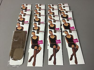 NWT Women's Bulk Lot Hanes Her Way Silky Sheer Knee Highs Made In Italy 20 Pair