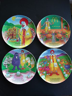 Vintage Collectible McDonalds Melamine Plates/Set of 4/1989