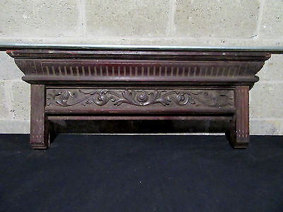 ~ Antique Carved Walnut Pediment ~44 Inches ~ Architectural Salvage ~