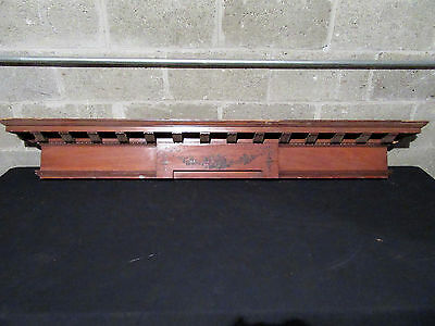 ~ Antique Cherry Wood Pediment Wall Shelf ~ 64 Inch ~ Architectural Salvage ~