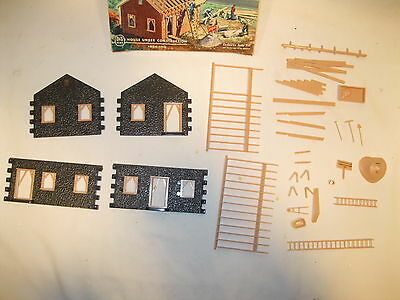 Plasticville O&s Scale House Under Construction 1624-100 Dark Grey Complete Ob