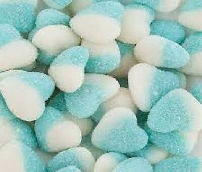Blue & White Sour Hearts 1Kg Wedding Candy Buffet Lollies