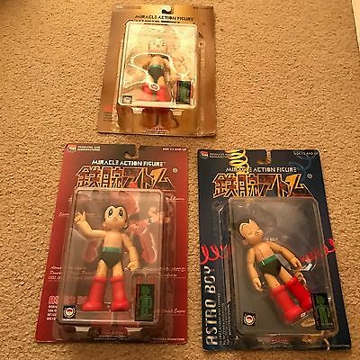 NEW RARE ASTRO BOY MEDICOM 6 Inch MIRACLE ACTION FIGURE TEZUKA SET of 3 (#6,7,8)
