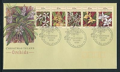 Christmas Island Orchids 1994 - Fdc (Jp)