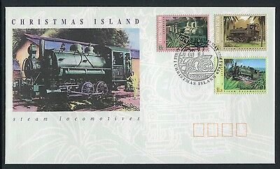 Christmas Island Steam Locomotives 1994 - Fdc (Jp)