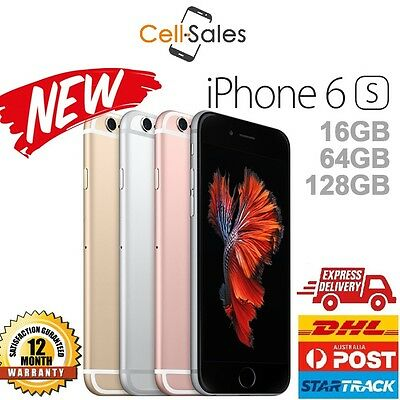 New Apple iPhone 6s 16GB 64GB 128GB Unlocked 4G Smartphone Aus 12 Month Warranty