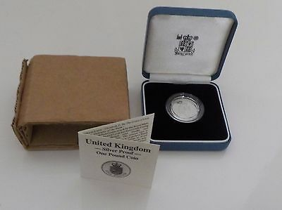 Royal Mint United Kingdom Silver Proof One Pound Coin 1988