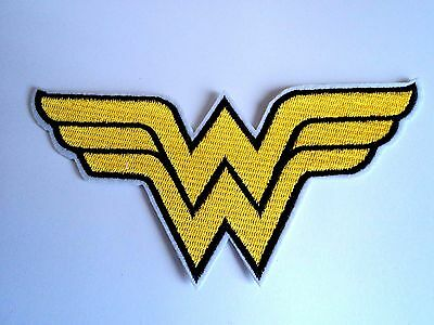 1x Wonder Woman DC Patch Embroidered Cloth Patches Applique Badge Iron Sew On
