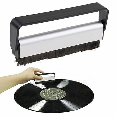 Antistatic Vinyl Record Brush Carbon Fiber Dust Cleaner Turntable Fibre Cleaning