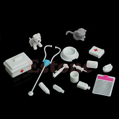 14Pcs White Mini Medical Equipment Toys for Barbie Fashion Doll Accessories