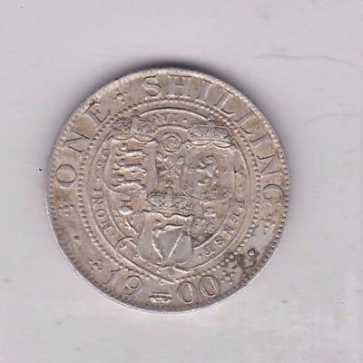 1900 Victorian Old Head Shilling In Very Fine Condition