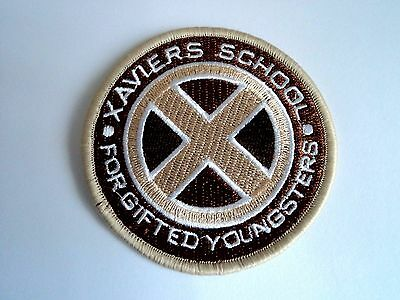 1x X-Men Xaviers School Patches Embroidered Cloth Applique Badge Iron Sew On