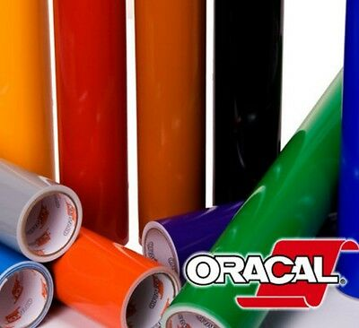 "18 Rolls 12"" x 5 feet Oracal 651  Vinyl for Craft Cutter.Choose from 63 colors!!"