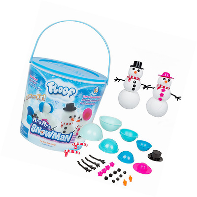 Floof Modeling Clay - Reuseable Indoor Snow - Mr. & Mrs Snowman Set With 22 Acce