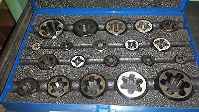 "Greenfield 20pc CRBN Hexagon Die Set No. 492 1-1/4""-1"" NF & NC (931-4AB10)"