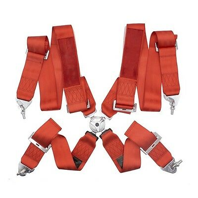 Red 4 Point racing Harness - 2020 4 Point Harness 4 Point Lock Takata Logo
