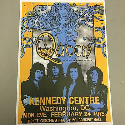 QUEEN - CONCERT POSTER WASHINGTON MONDAY 24th FEBRUARY 1975 (A3 SIZE)
