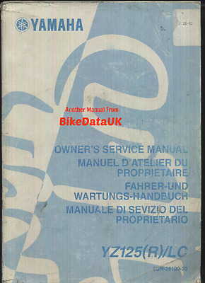 Genuine Yamaha YZ125 R LC (2002-2003) Factory Owners Shop Manual YZ 125 5UN 2T