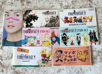 Final Fantasy IV 5+1 V VI Stars Vol.1 Vol.2 VIII Soundtrack 7 Japan CD Set Lots