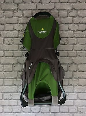 Littlelife Adventurer Green And Grey Baby Carrier Backpack Rrp £119