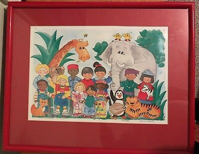 """""""Peaceable Kingdom"""" - framed, signed limited edition color print by Teresa Walsh"""