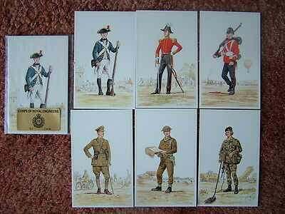 Postcards -  CORPS OF ROYAL ENGINEERS.  6 card set.  Mint Condition.