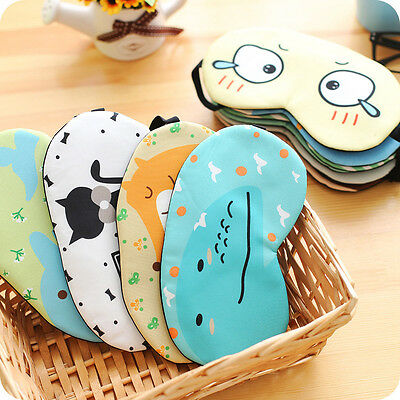 Cartoon Eye Mask Cover Sleeping Funny Eyepatch Rest Lovely Toy for Travel