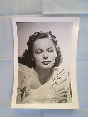 Nancy Coleman Signed Photograph