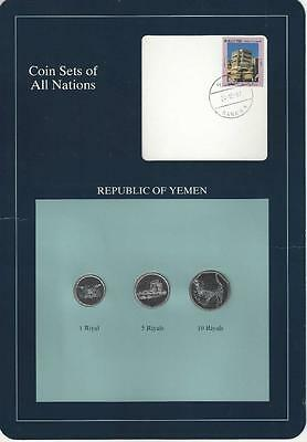Coin Sets of All Nations - Republic of Yemen, 3 Coin set, SCARCE