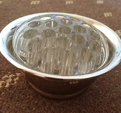 Silver Plate Decorative Table Vase With Glass Insert