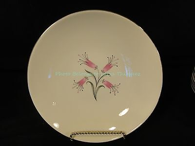 Homer Laughlin RY356 China Pink Flowers Gray Black Leaves 8 Coupe Soup Bowls sk