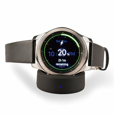 StrapsCo Samsung Smartwatch Gear S2, and Gear S2 Classic Wireless Charger Dock