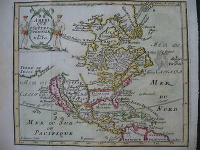 1703 - De FER - Small map NORTH AMERICA  California Island