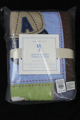 Pottery Barn Kids Junior Varsity Quilted Standard Sham Sports NEW L1