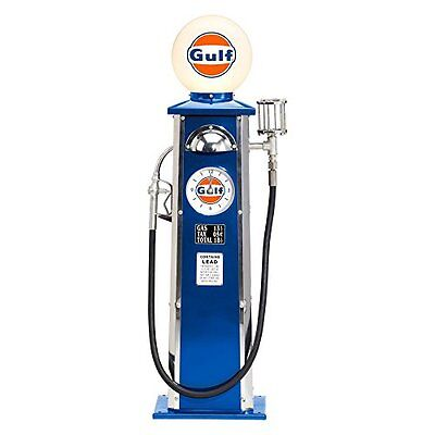 Gulf Vintage Look Gas Pump with Clock & Lighted Globe