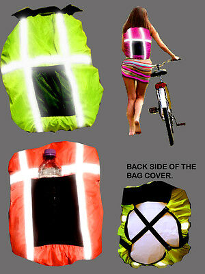 Backpack Cover Hi Viz Windproof Waterproof Rucksack Cover Pannier  Refl.stripes