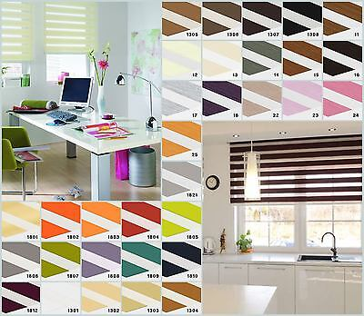 Day And Night Blinds - Made To Measure Cassette Zebra Vision window Roller Blind