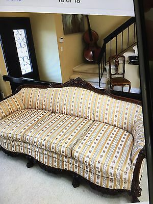 Gorgeous Stunning Victorian Couch And Chair Reupholstered Pristine.