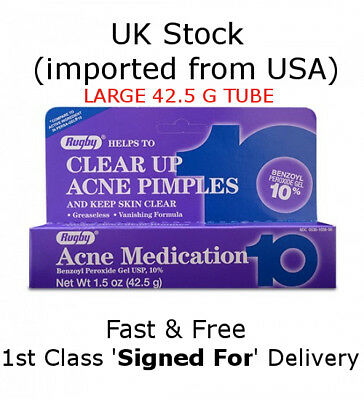 Rugby Max Strength 10% Benzoyl Peroxide Acne Medication *FREE 1st CLASS POST*