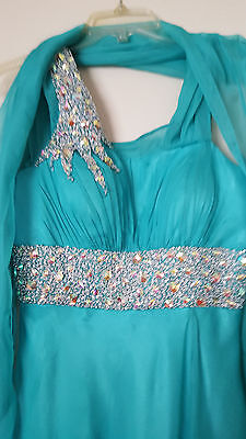 Women's Long Formal Prom Dress Cocktail Evening Party Ball Gown Size 8