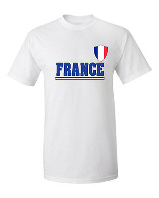 France Rooster Shield 2018 World Cup Champions Adult Cotton Soccer T-shirt