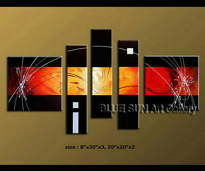 Large Contemporary MODERN ABSTRACT OIL PAINTING on Canvas Wall Art Framed LT2069