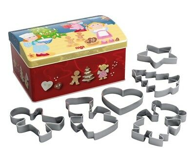 Haba Cookie jar Christmas baking Children Baking shapes with Cookie cutter