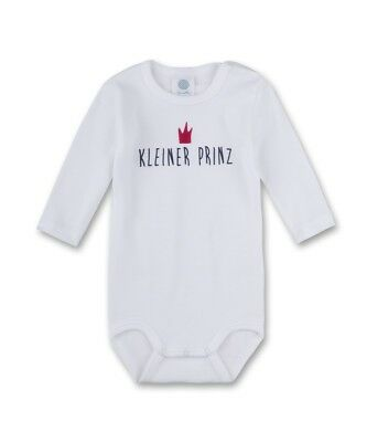 Sanetta Boys Baby Body suit Long sleeved Little Prince white Young