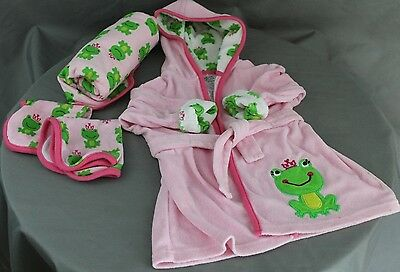 Just One You Carter's Frog Robe Towel and Washcloth Set 0-9 Months