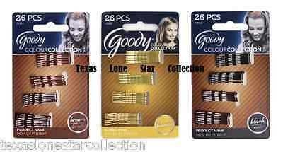 Goody Colour Collection Bobby Pins BLONDE, BRUNETTE or BLACK 26 Color Mini Small