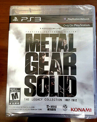Metal Gear Solid The Legacy Collection 1987 - 2012 PS3 Brand New & Sealed