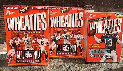 3-Dan Marino Miami  Dolphins Nfl  Cereal Boxes