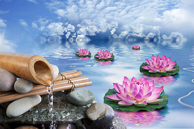 Home Decor Modern Abstract Lotus Flower Painting Wall Art Picture Printed canvas